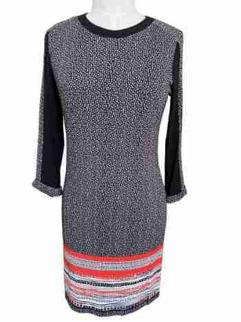 AndAmio black and white dot dress front